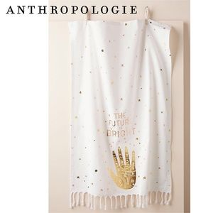 Anthropologie The Future is Bright Dish Towel